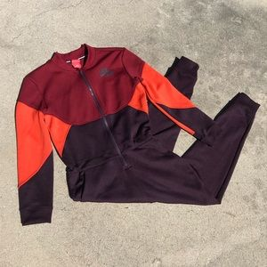 Nike Women's Air Force 1 Burgundy Jumpsuit